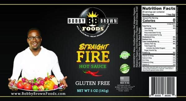 Bobby's Straight FIRE Hot Sauce label