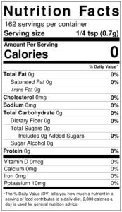 Bobby's NEW Garlic Powder Seasoning Nutrition Facts