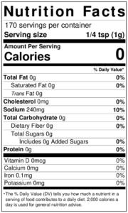 Bobby's NEW Lemon Pepper Seasoning Nutrition Facts